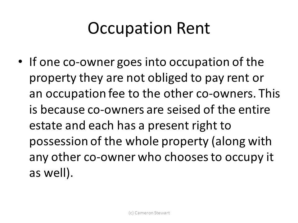Occupation Rent