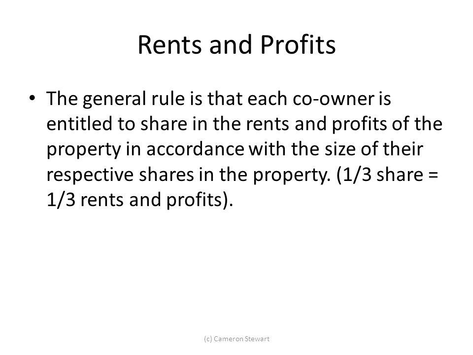 Rents and Profits