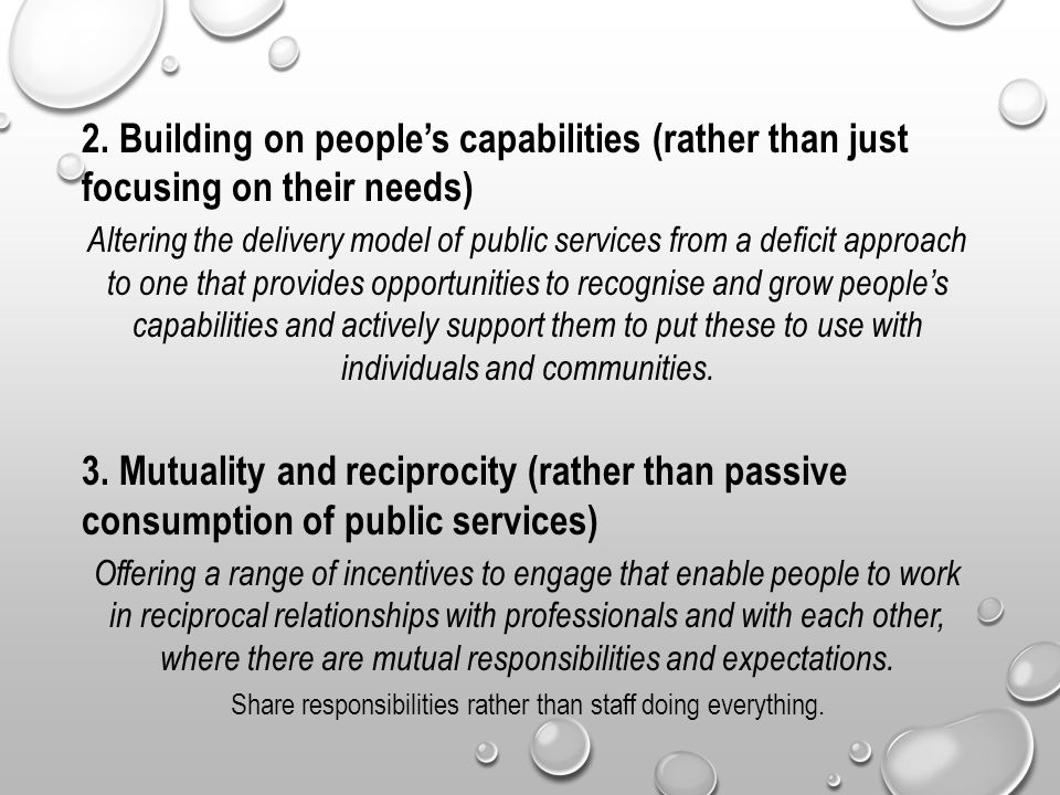 Share responsibilities rather than staff doing everything.