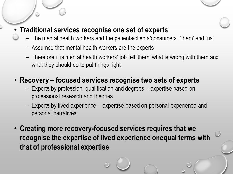 Traditional services recognise one set of experts