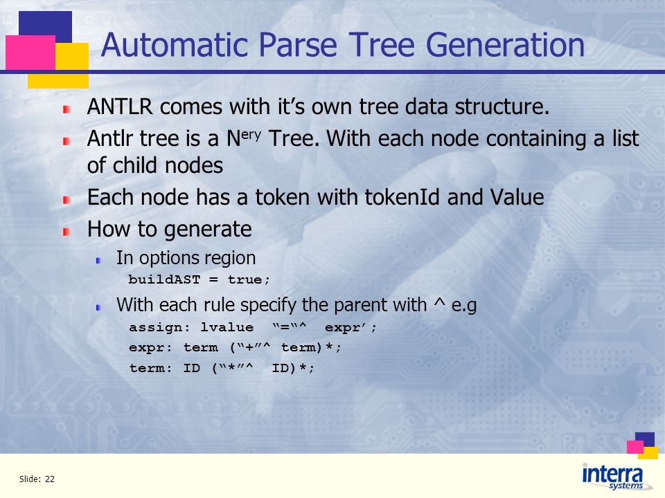 Automatic Parse Tree Generation