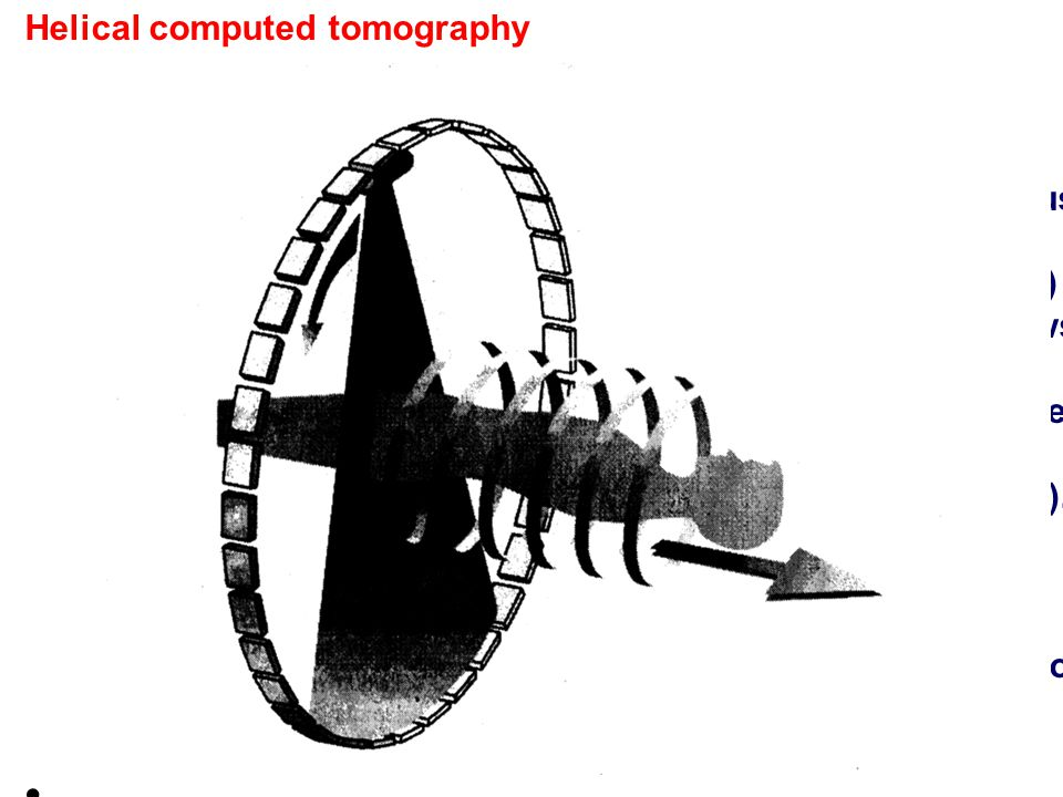Helical computed tomography