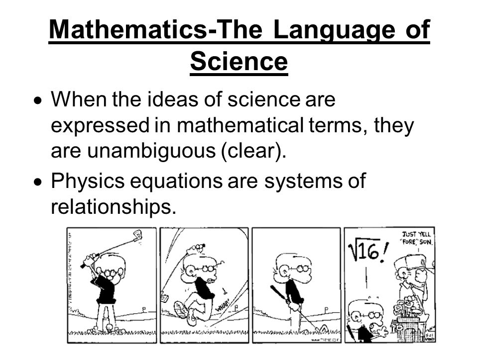Mathematics-The Language of Science