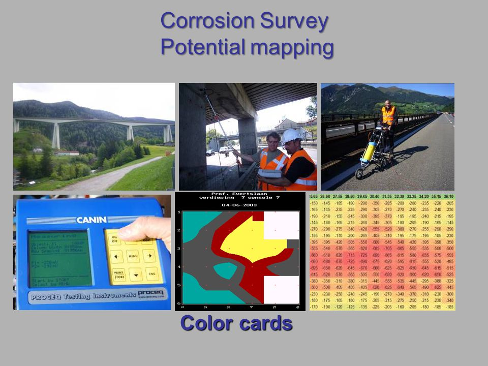 Corrosion Survey Potential mapping