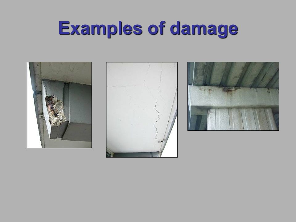 Examples of damage