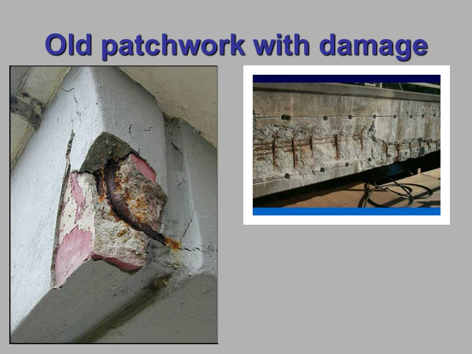 Old patchwork with damage