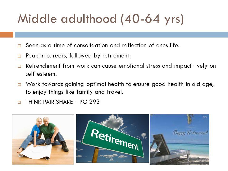 Middle adulthood (40-64 yrs)