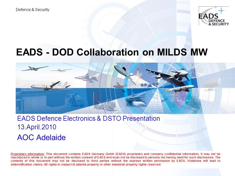 EADS - DOD Collaboration on MILDS MW