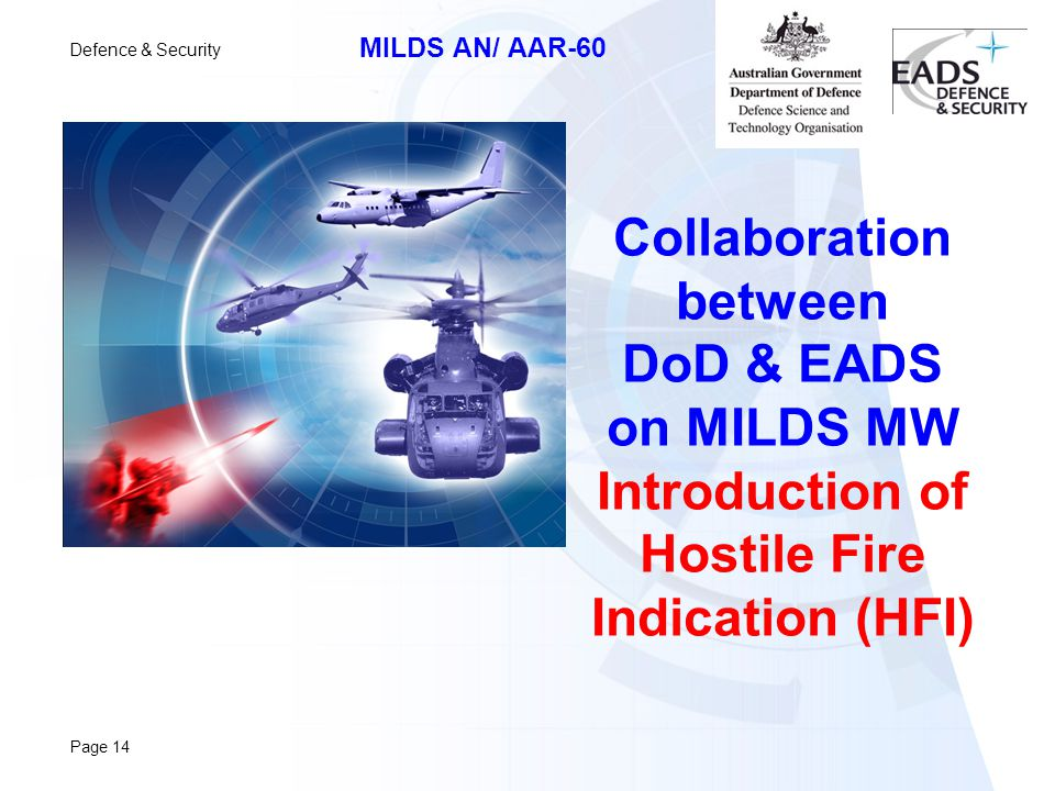 Collaboration between DoD & EADS on MILDS MW