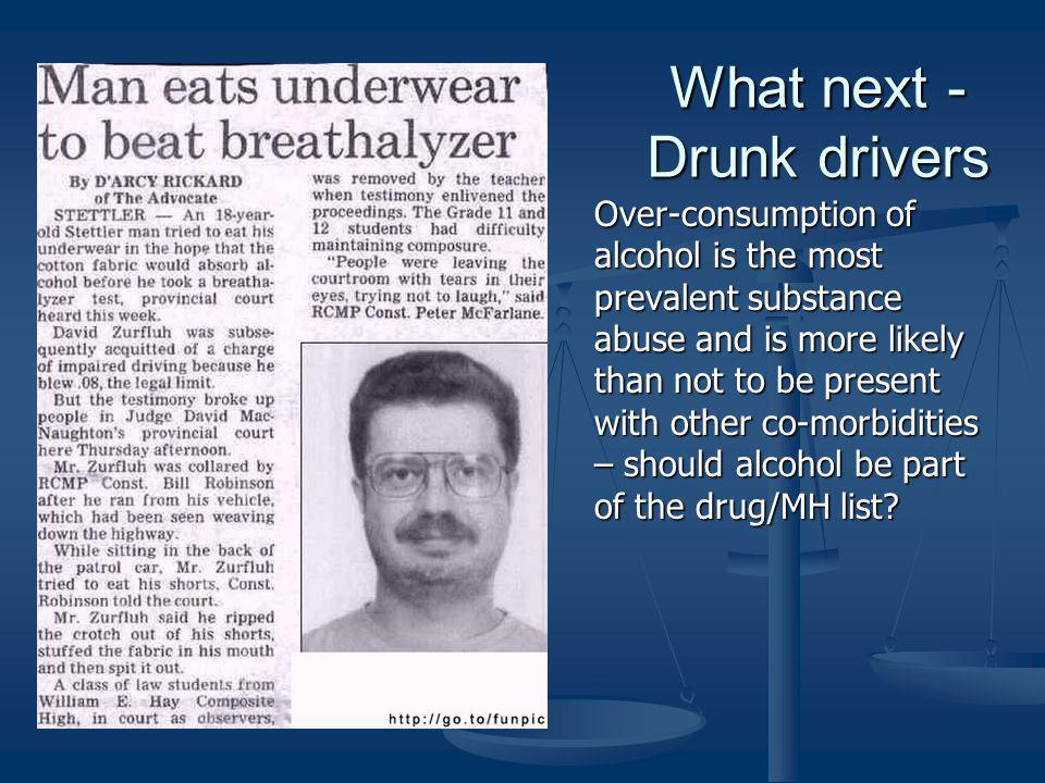 What next -Drunk drivers
