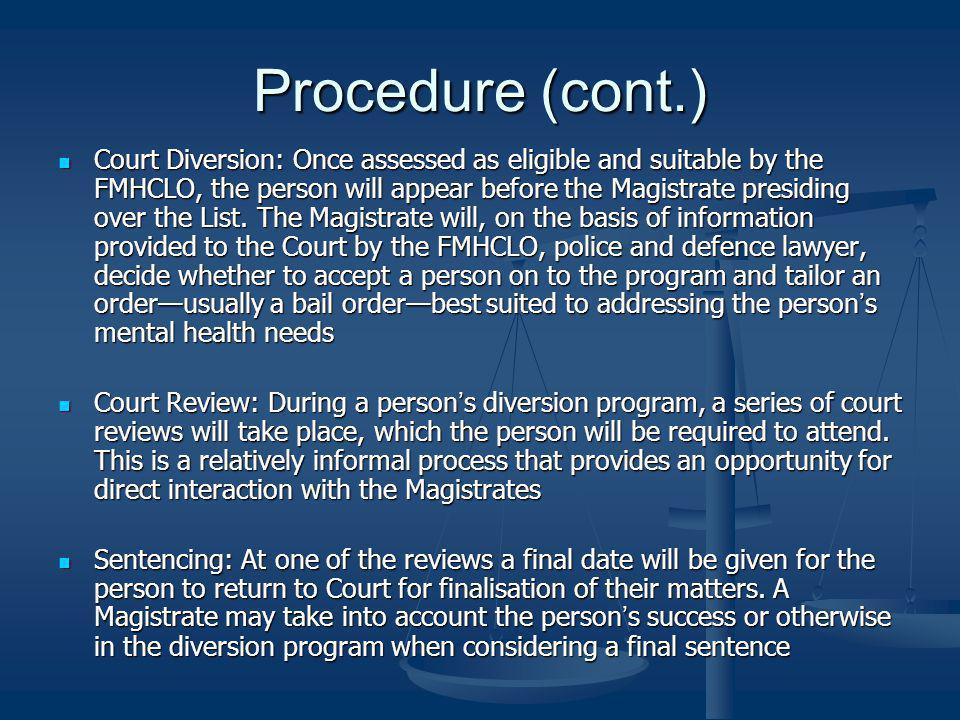 Procedure (cont.)
