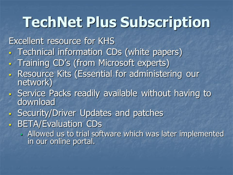 TechNet Plus Subscription