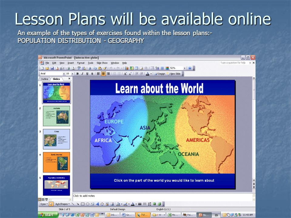 Lesson Plans will be available online