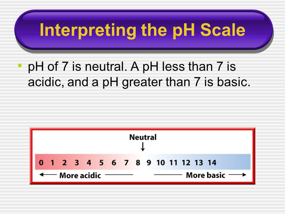Interpreting the pH Scale