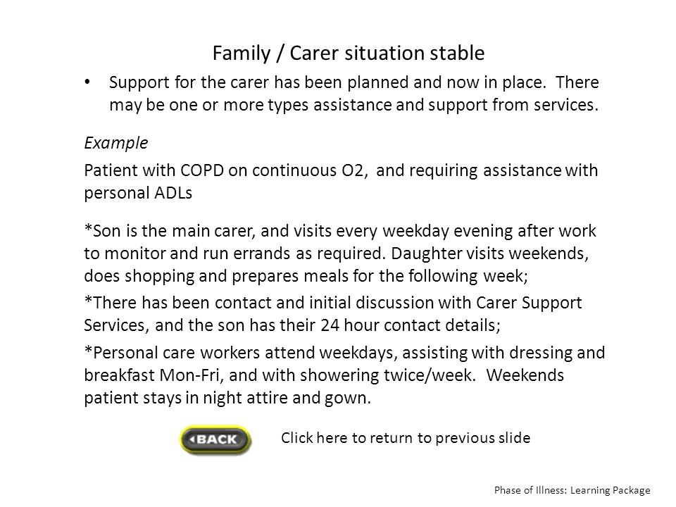 Family / Carer situation stable