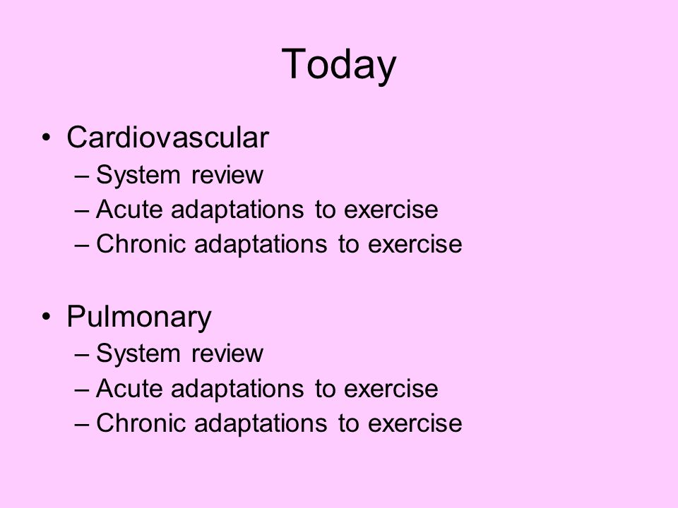Today Cardiovascular Pulmonary System review