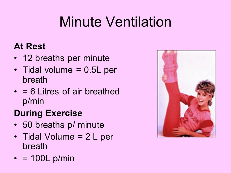 Minute Ventilation At Rest 12 breaths per minute