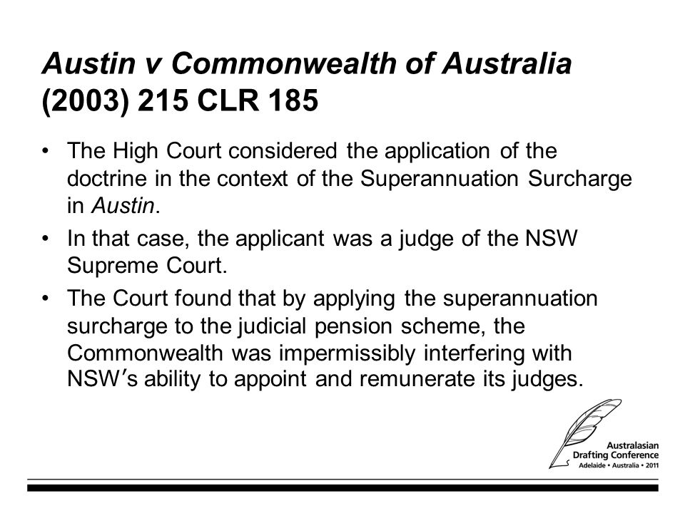 Austin v Commonwealth of Australia (2003) 215 CLR 185