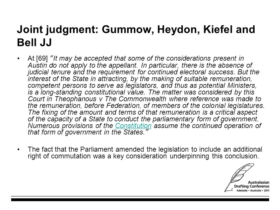 Joint judgment: Gummow, Heydon, Kiefel and Bell JJ