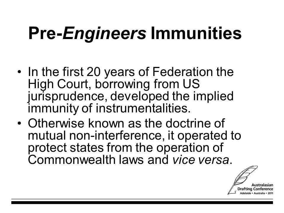 Pre-Engineers Immunities