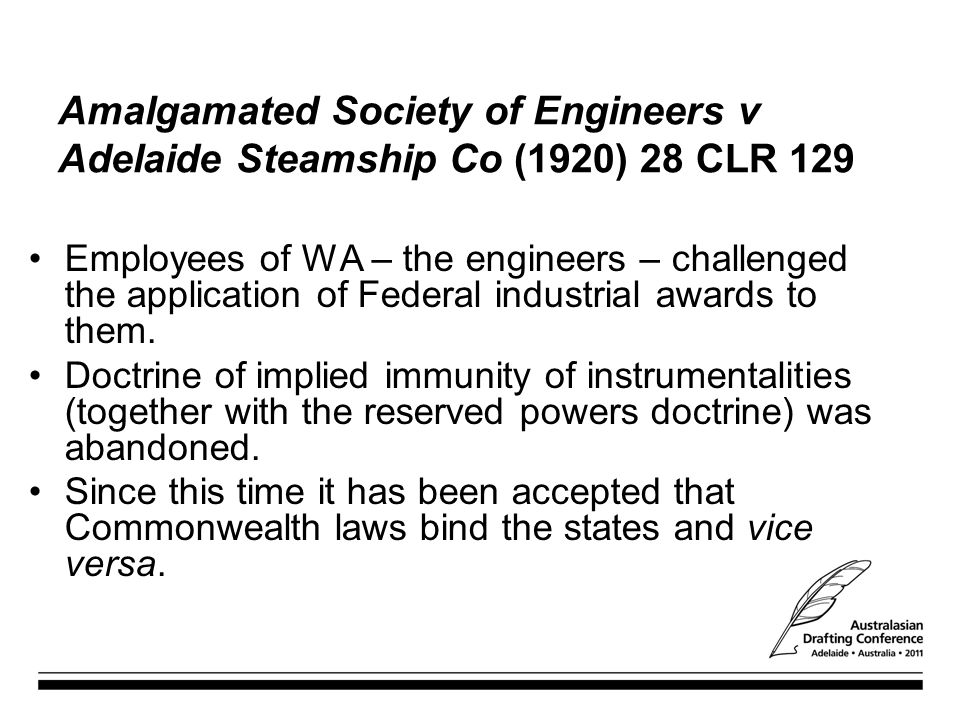 Amalgamated Society of Engineers v Adelaide Steamship Co (1920) 28 CLR 129