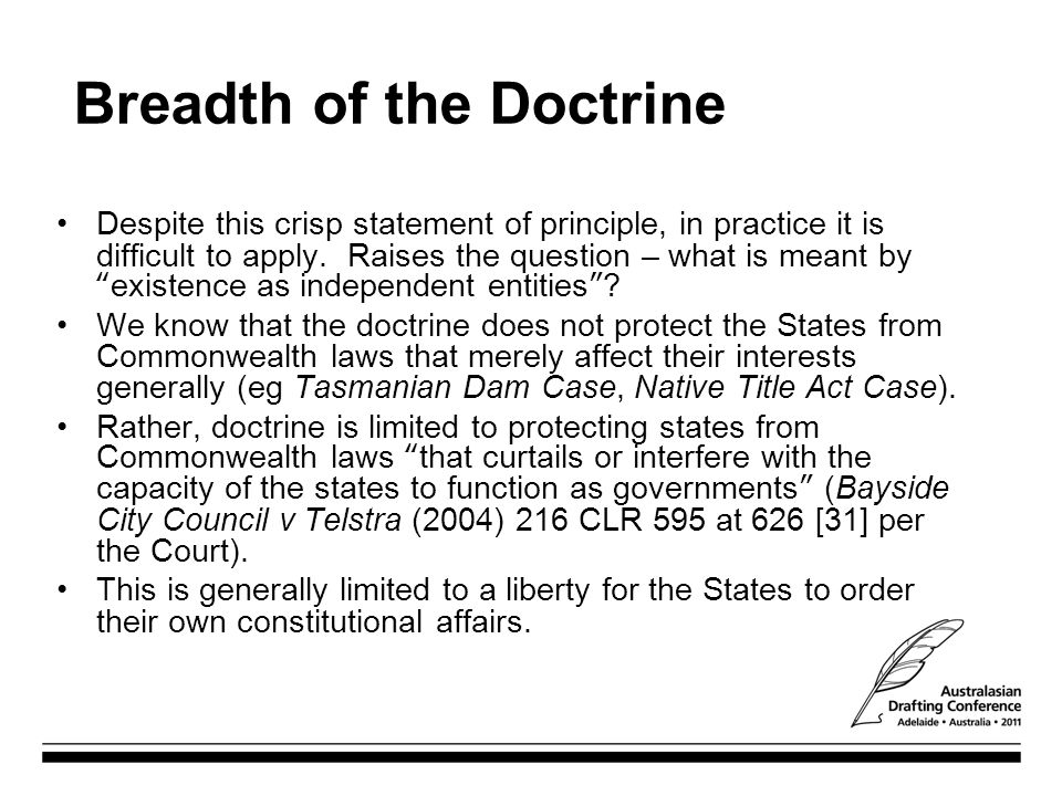 Breadth of the Doctrine
