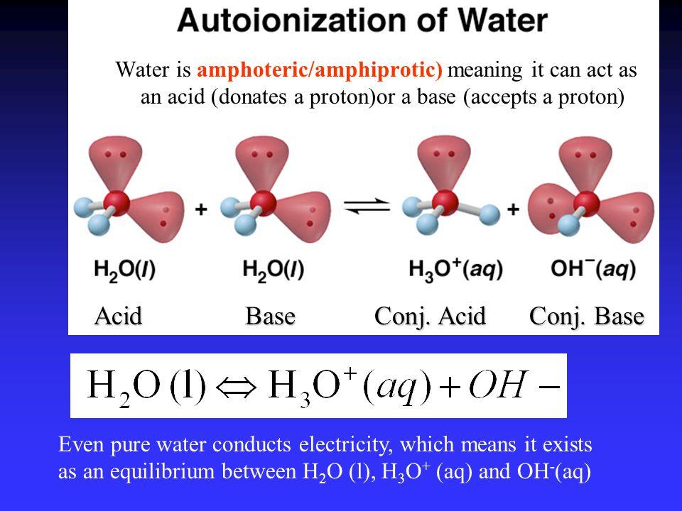 Acid Base Conj. Acid Conj. Base