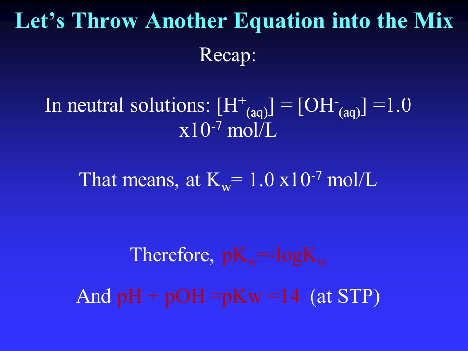 Let's Throw Another Equation into the Mix