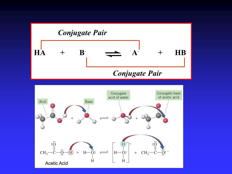 Conjugate Pair HA B- + A- HB + Conjugate Pair