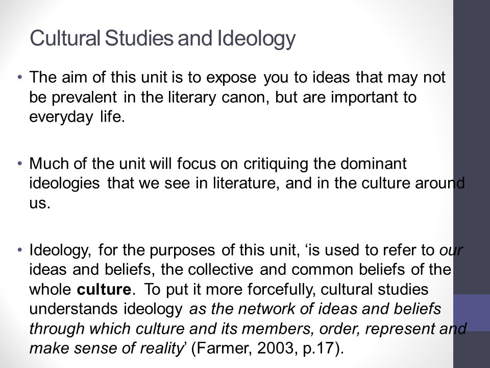 Cultural Studies and Ideology