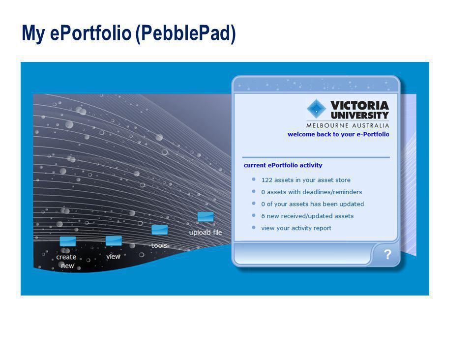 My ePortfolio (PebblePad)