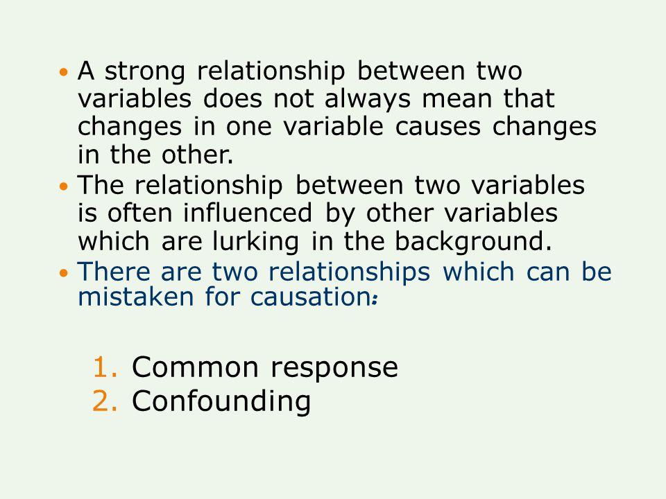 Common response Confounding