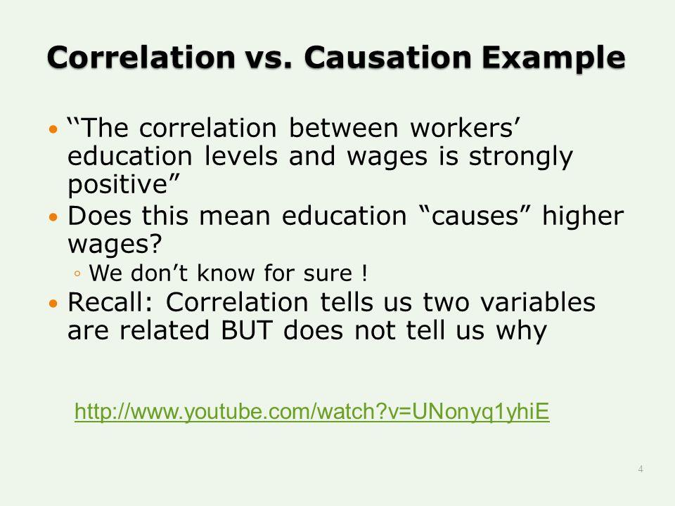 Correlation vs. Causation Example