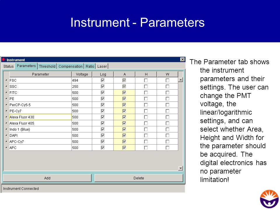 Instrument - Parameters