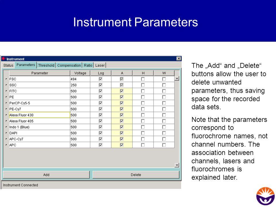 Instrument Parameters