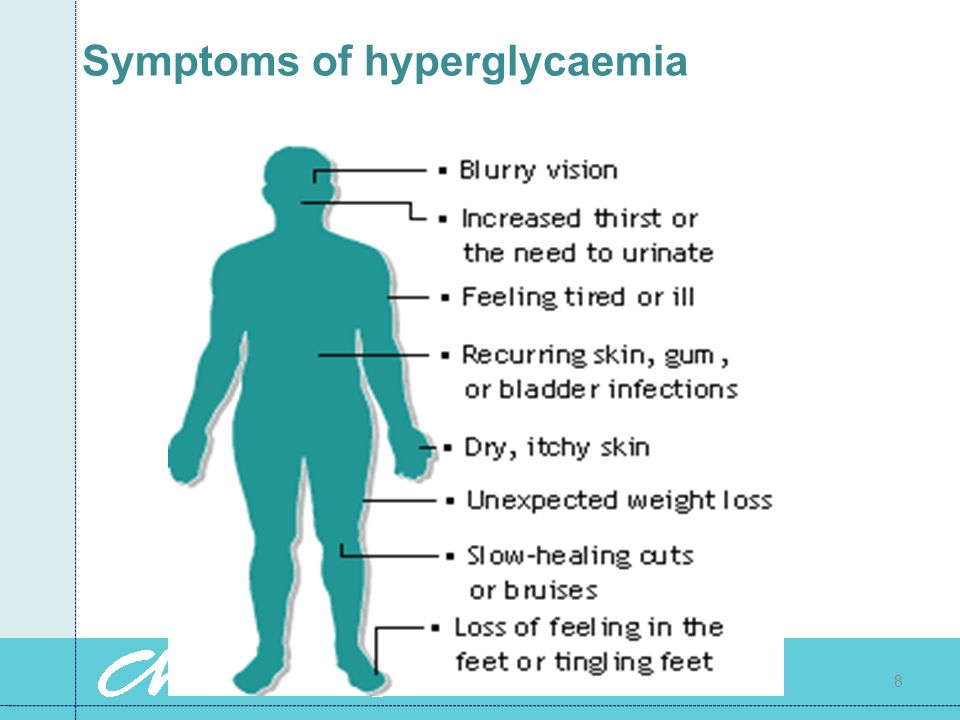 Symptoms of hyperglycaemia