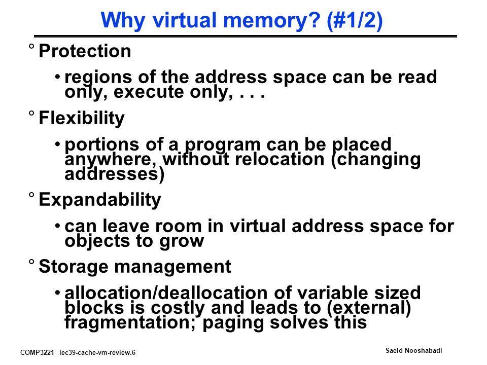 Why virtual memory (#1/2)