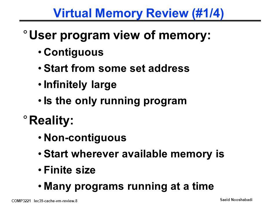 Virtual Memory Review (#1/4)