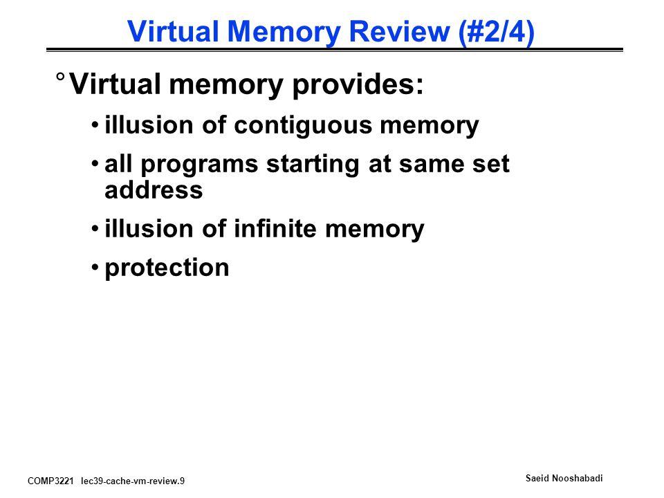 Virtual Memory Review (#2/4)
