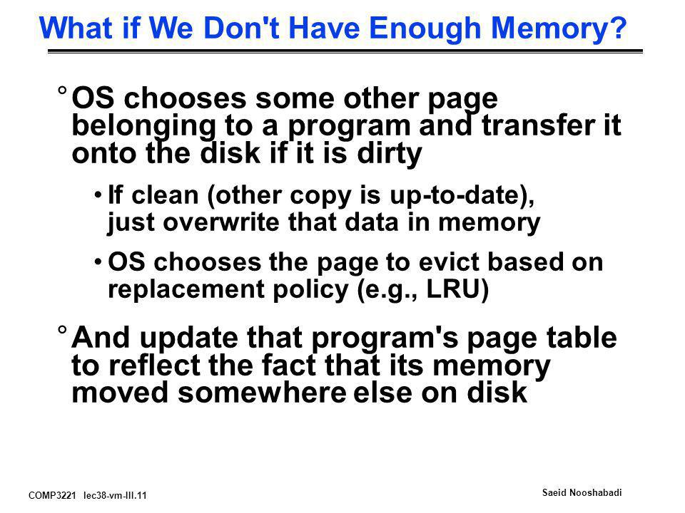 What if We Don t Have Enough Memory