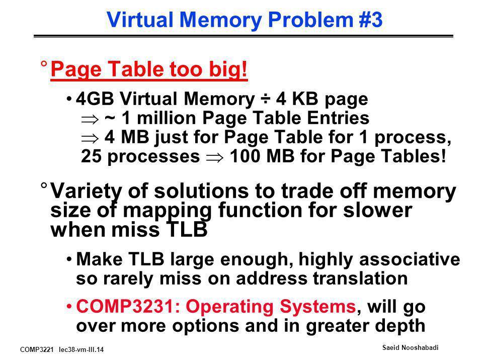 Virtual Memory Problem #3