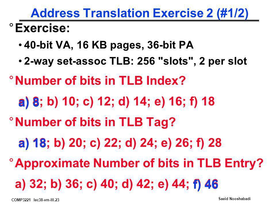 Address Translation Exercise 2 (#1/2)