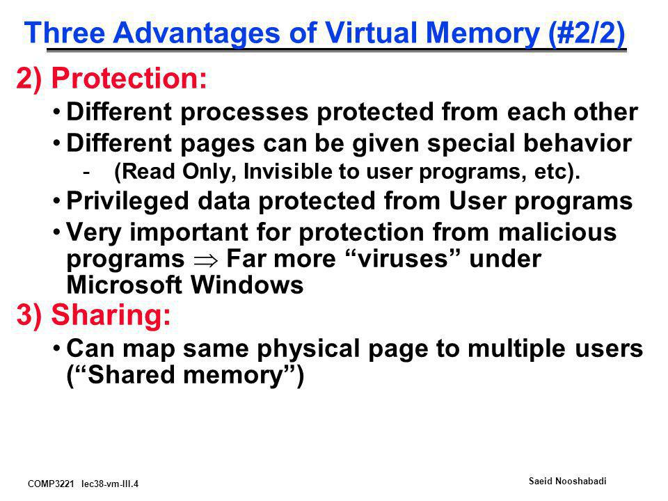 Three Advantages of Virtual Memory (#2/2)