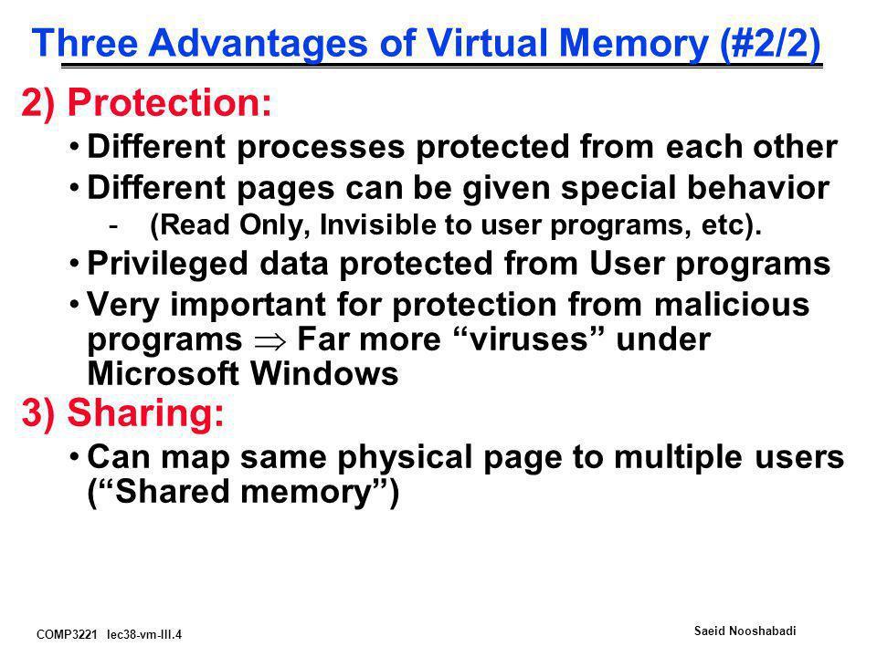 Three Advantages of Virtual Memory (#2/2)