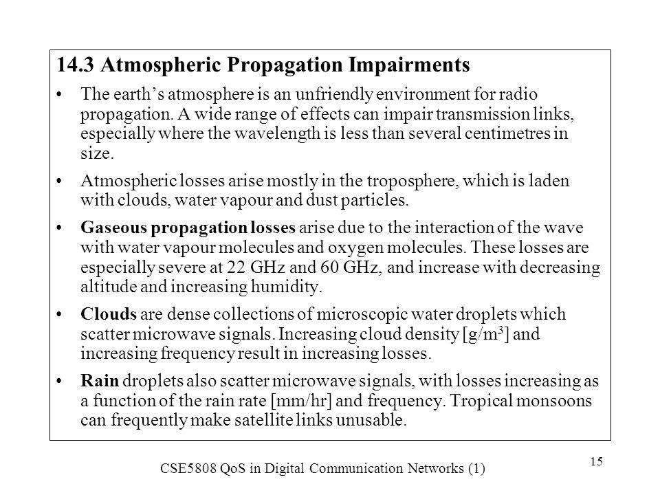 14.3 Atmospheric Propagation Impairments