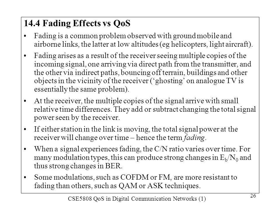 14.4 Fading Effects vs QoS
