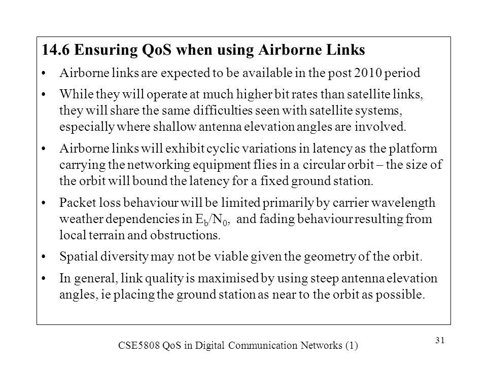 14.6 Ensuring QoS when using Airborne Links