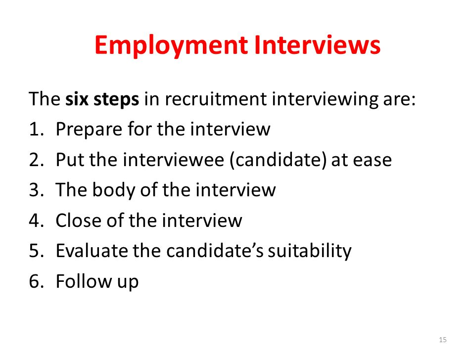 Employment Interviews