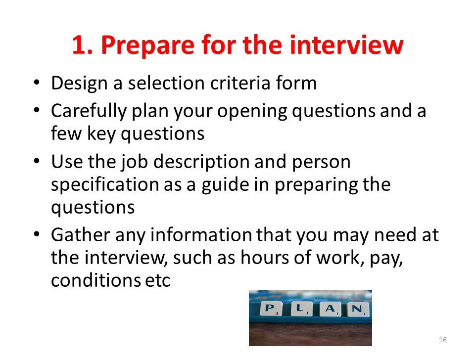 1. Prepare for the interview