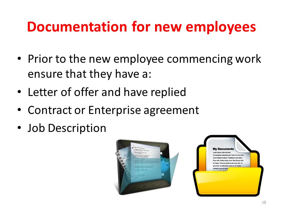 Documentation for new employees